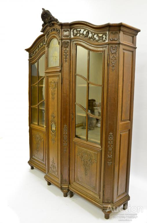 Составной книжный шкаф с напольными часами. 500155