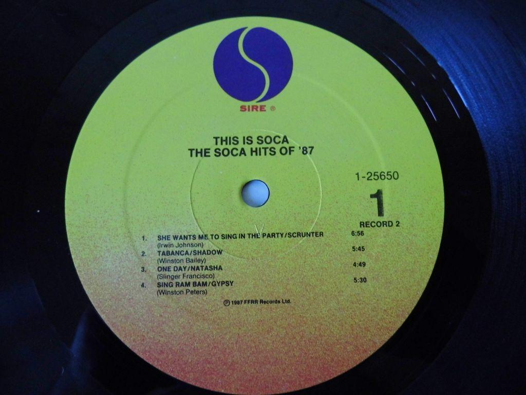 This Is Soca - Various 1987 / 2 LP. Sire Rec. USA
