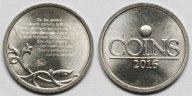 Монетка (жетон) на удачу и богатство на заготовке для 1 копеечной монеты с уникальным микротекстом