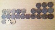 25 монет 1 копейка СССР, погодовка без повторов