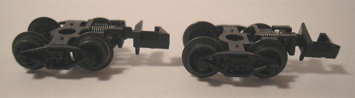 9мм.(N) Пара тележек bettendorf (темненые металлические колеса)