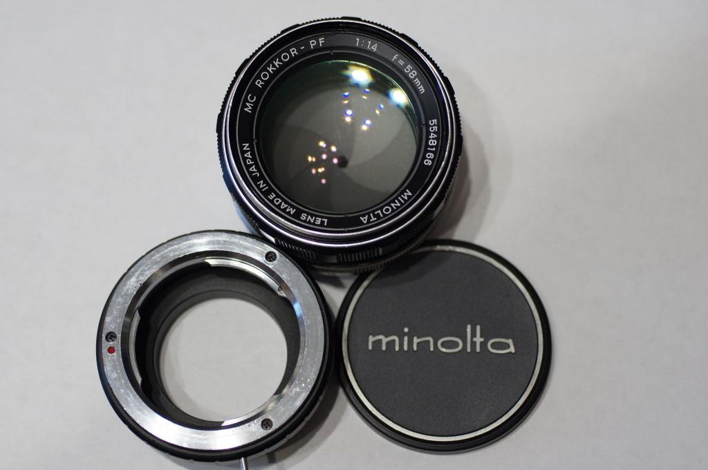 MC Minolta Rokkor-PF 58/1,4