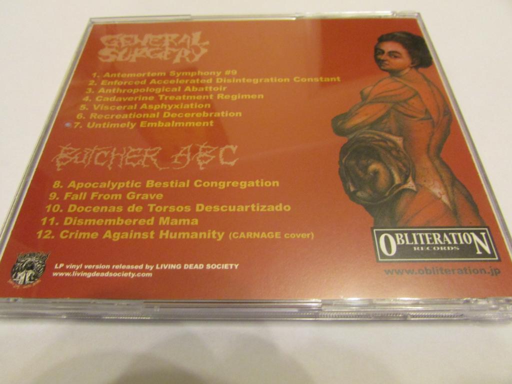 General Surgery / Butcher ABC - Split CD Brutal Death Grindcore
