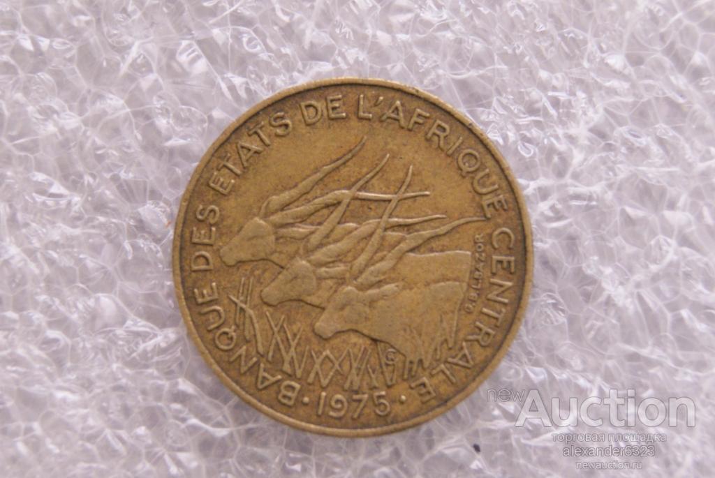 10 франков Центральная Африка 1975 год