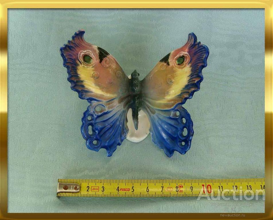 Старинная, оригиналъная, фарфоровая бабочка знаменитой марки Ens Karl, фабрика в Рудольштадте