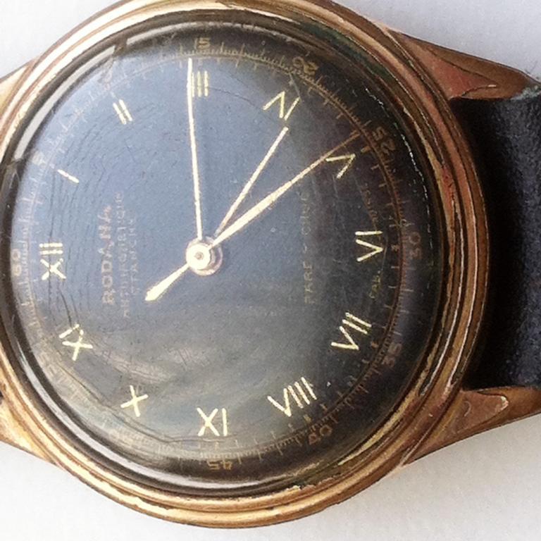 Часы наручные мужские механика Rodana, Rodania Watch Co. Swiss оригинал Винтаж 1930-1945 гг
