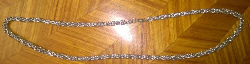 Цепочка. Серебро. Сложное плетение. 55 см.