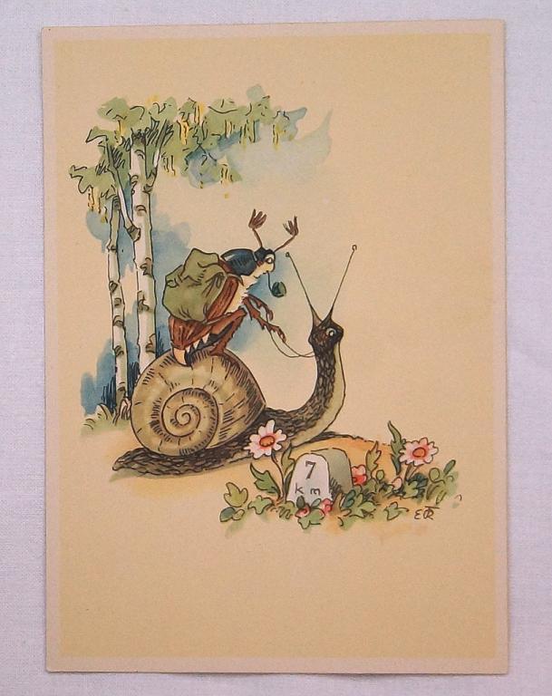 открытка с жуками влиять