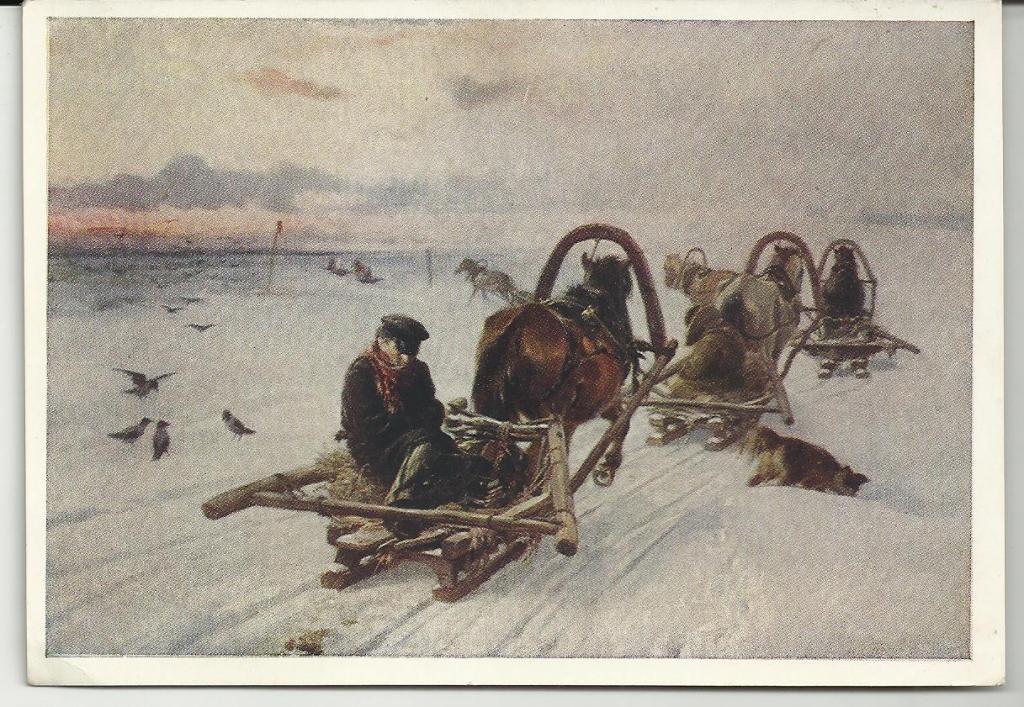 ЖИВОПИСЬ.ПРЯНИШНИКОВ.ПОРОЖНЯКИ.1872