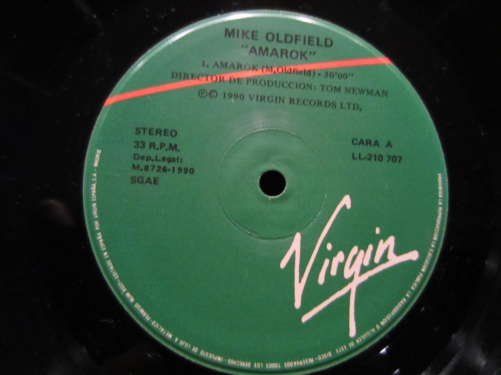 Пластинка Mike Oldfield 1990 - Amarok