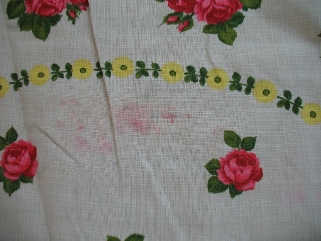 Скатерть круглая Цветы Винтаж