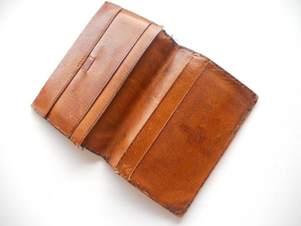 VINTAGE Портмоне КОШЕЛЕК МУЖСКОЙ ОРНАМЕНТ СССР USSR 1970s Man's purse portmone Кожа / Leather Patter