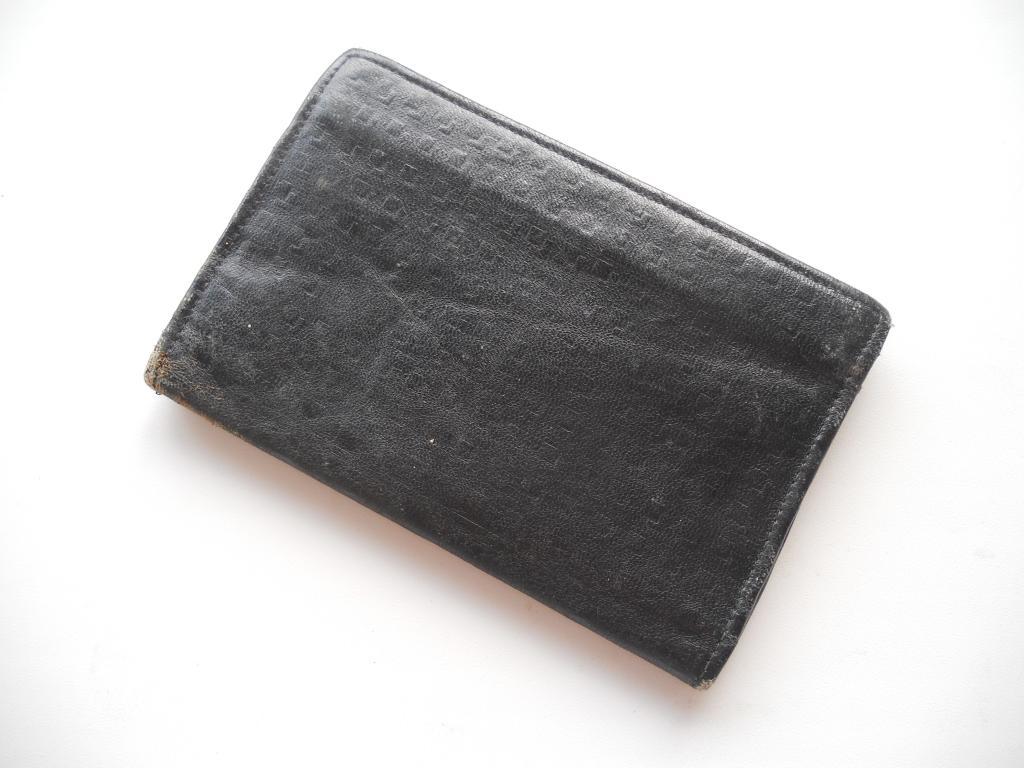 VINTAGE ПОРТМОНЕ КОШЕЛЕК МУЖСКОЙ / Рельеф монета  Пенни / ЕВРОПА 1940-50s Man's purse portmone Кожа