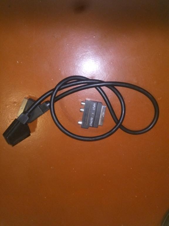 SCART кабель + переходник SCART-тюльпан