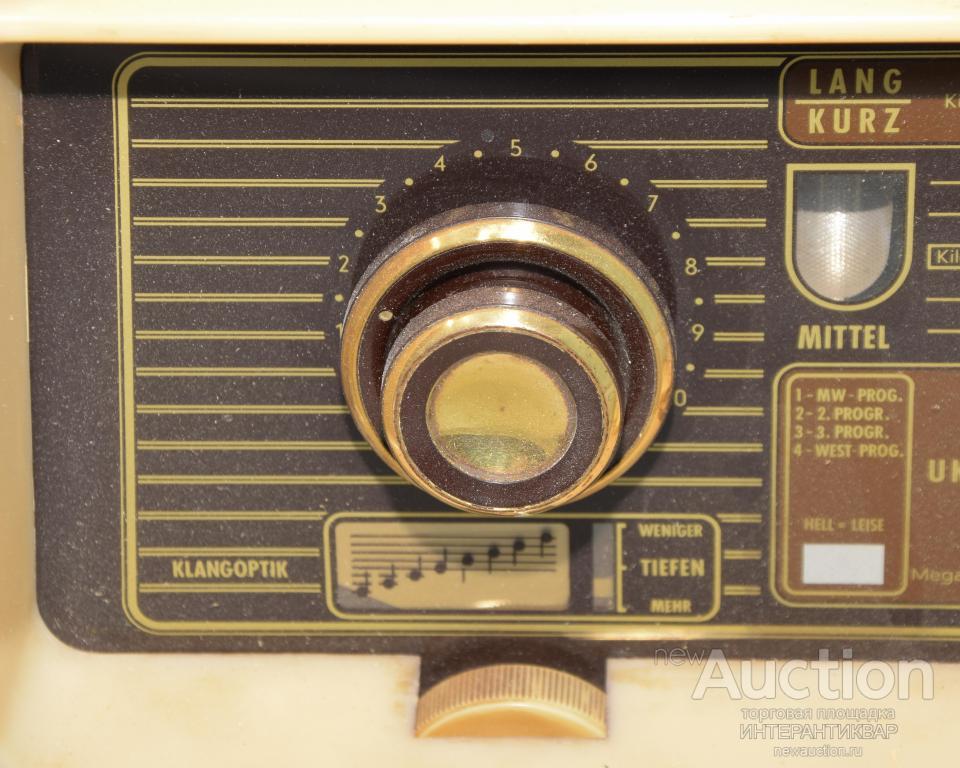 Винтажный ламповый радиоприемник «Siemens-Super H7».  11Бр0117
