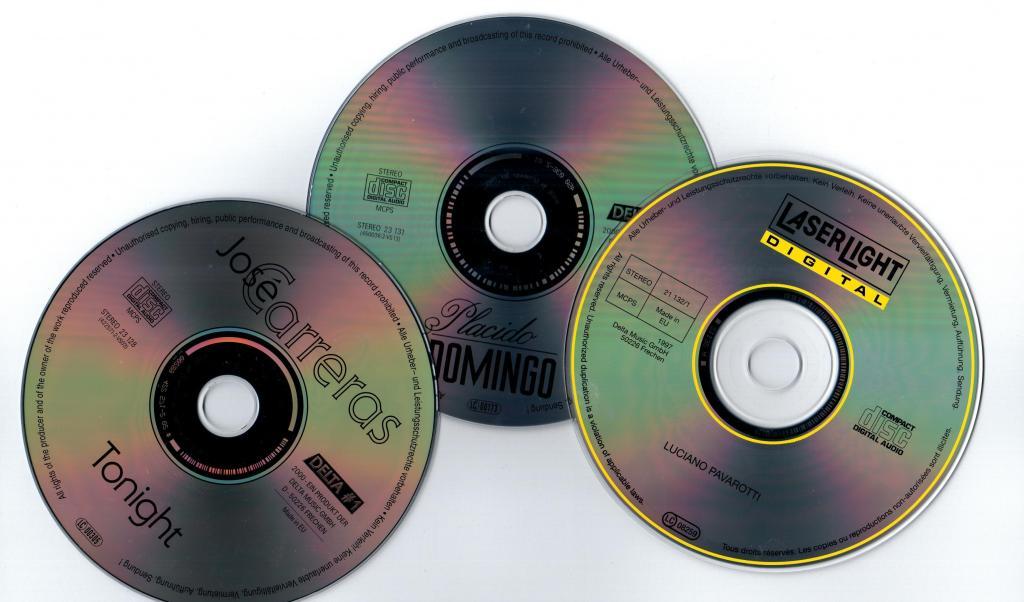 CD Хосе Каррерас, Пласидо Даминго, Лучано Паваротти. Сборник из трёх дисков.