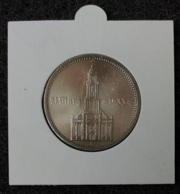 5 RMr Кирха подписная 21 Marz 1933 1934 А