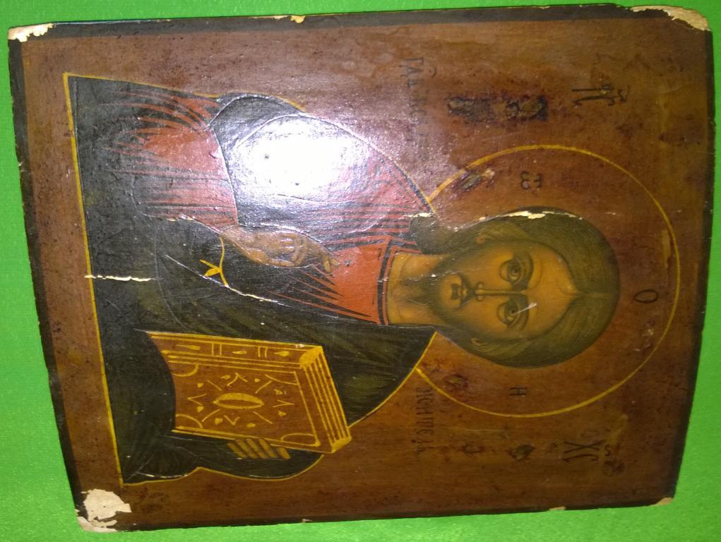 Икона. Иисус Христос Вседержитель. Конец 19 века.