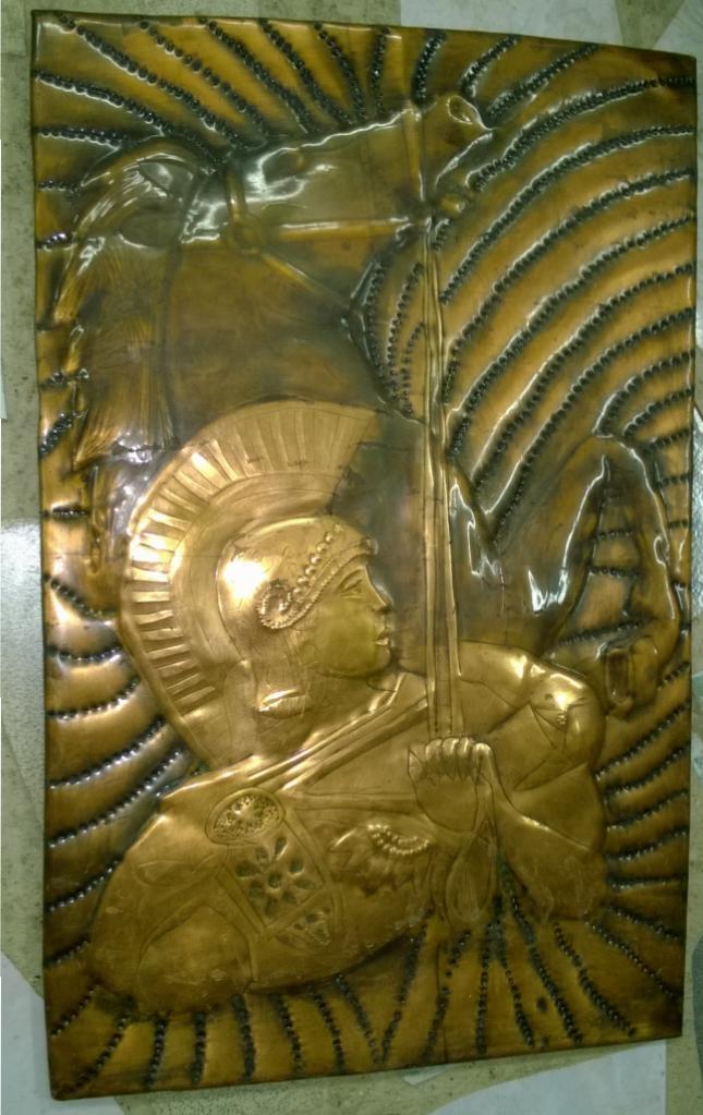 Римский воин с  конем. Латунь.