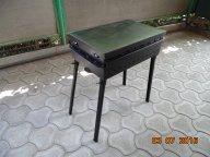 МАНГАЛ - КОПТИЛЬНЯ  мобильные  на 8 шампуров.    Габариты - 65 х 40 х 20 см.    С  ТУРБО   эффектом!