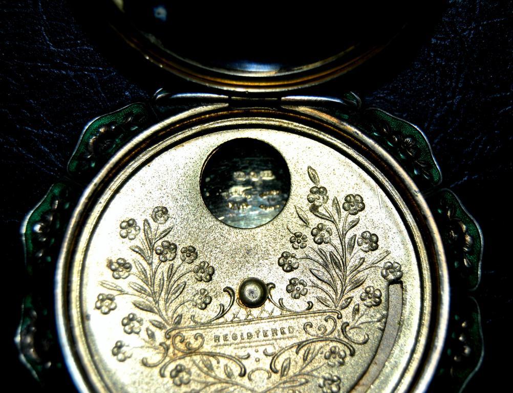 ШИКАРНАЯ пудреница! Серебро 935 пробы - Австрия! Позолота и гильошированная эмаль!!! RRR