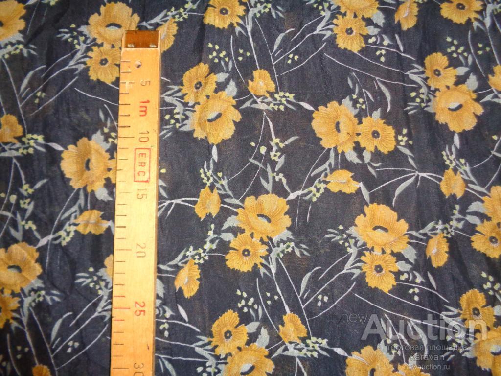 Ткань, натуральный креп-шифон, винтажный