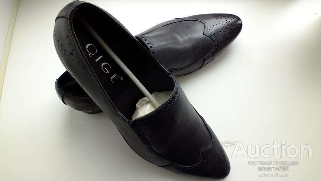 Мужские модельные туфли из натуральной кожи р-р 43