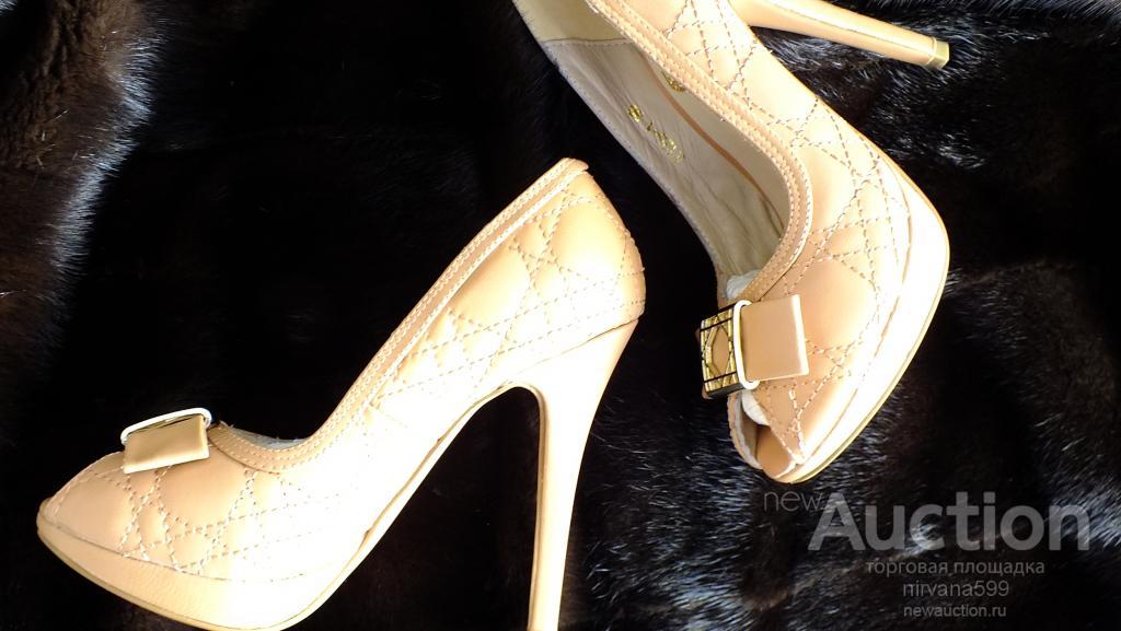 Модельные туфли р-р 36 из натуральной кожи