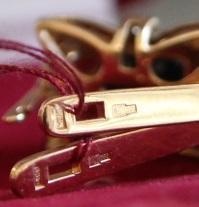 Комплект кольцо и серьги с сапфирами 6,03 ct и бриллиантами 0.87 ct золото 585 пробы 13,02 грамм