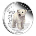 Акция. Фауна. Белый полярный медведь.Детёныш.2017 г.0.5 $.Серебро.Пруф. Тир.7500 шт.(См.др.мои лоты)