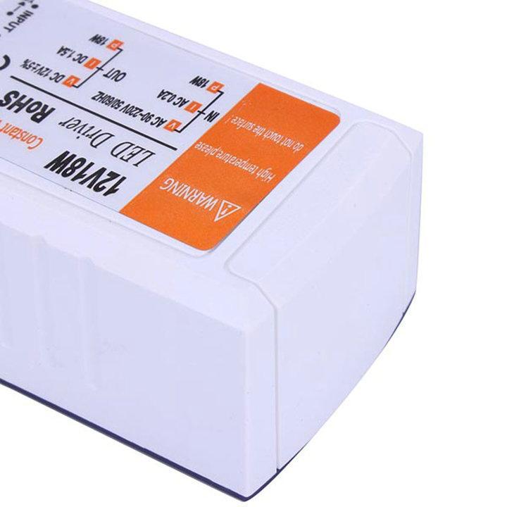 Блок Питания для Светодиодных Лент RGB 12В 1.5А 18Вт.