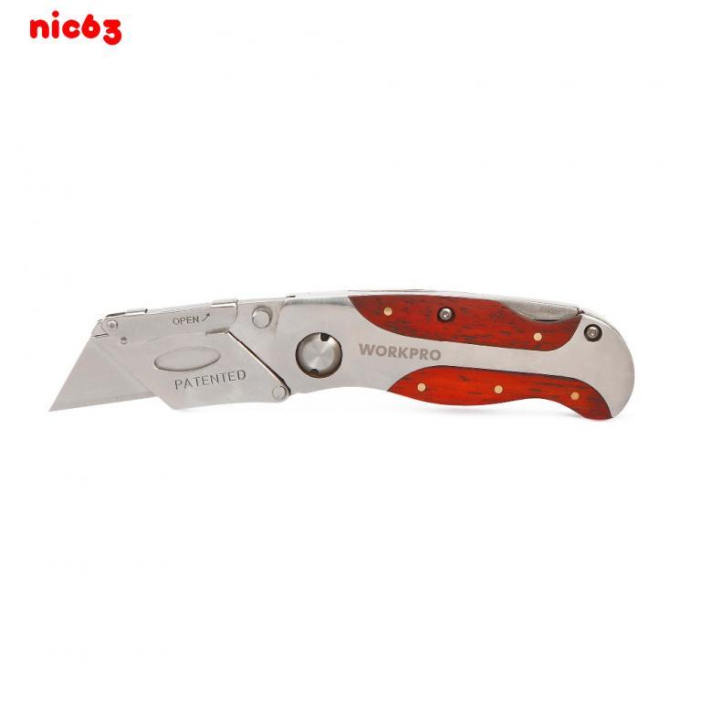Портативный компактный складной нож со сменным лезвием для дома работы