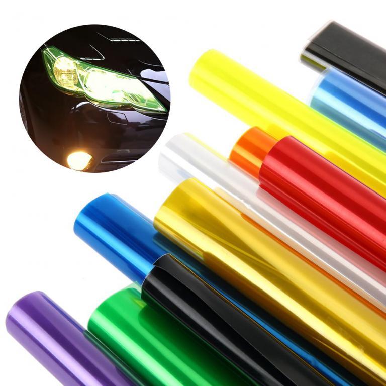 Тонировочная Пленка для Фар / 30 х 100 см / 12 цветов.