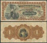 Родезия 1 фунт 1932 Standart Bank of South Africa. Salisbury Branch.  №R1 A59742