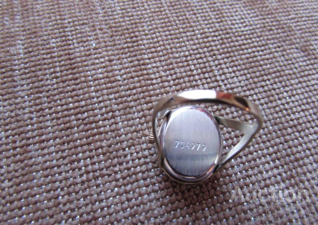Часы кольцо Чайка (Т) заводные - рабочие! очень РЕДКИЕ! винтаж из СССР!
