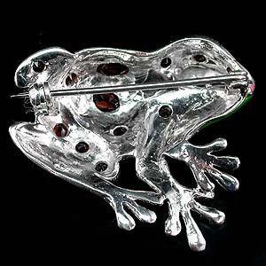Брошь гранат авантюрин серебро 925