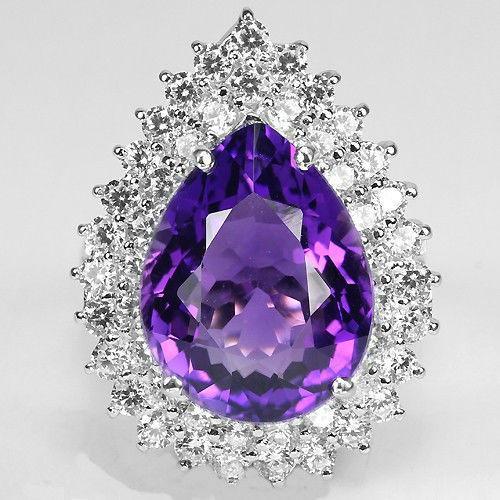 Кольцо аметист сапфир 18,0 серебро 925