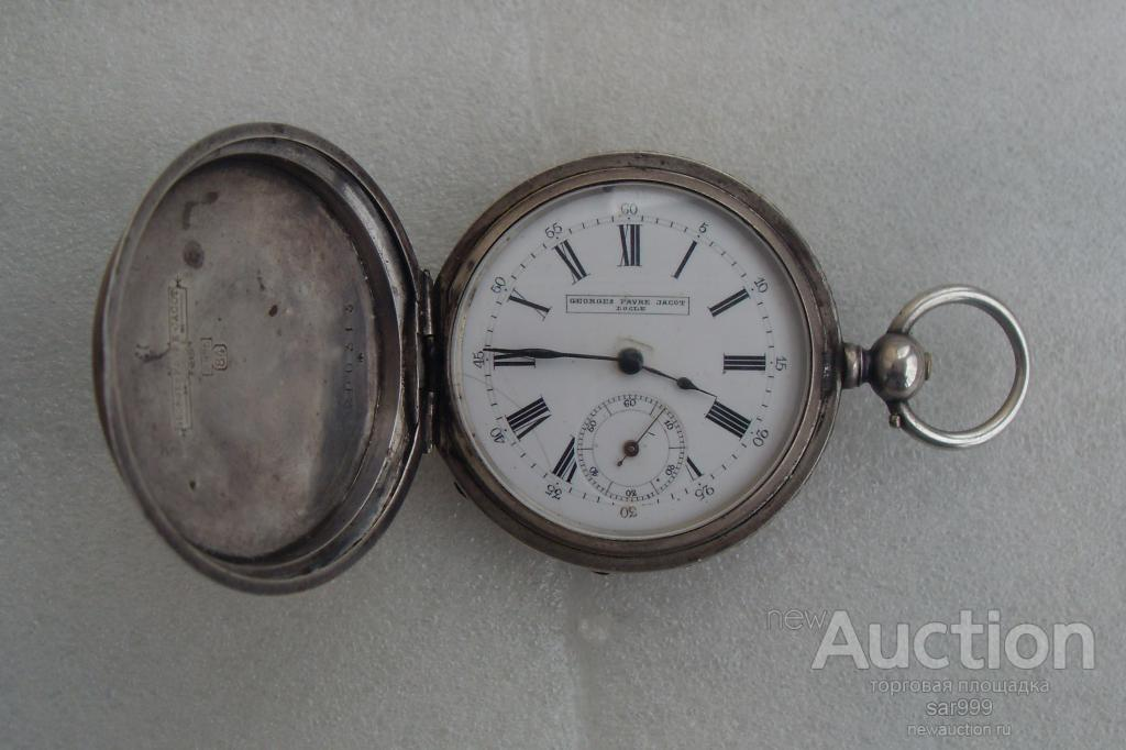 Часы GEORGES FAVRE - JACOT LOGLE SUISSE . СЕРЕБРО 84 проба.