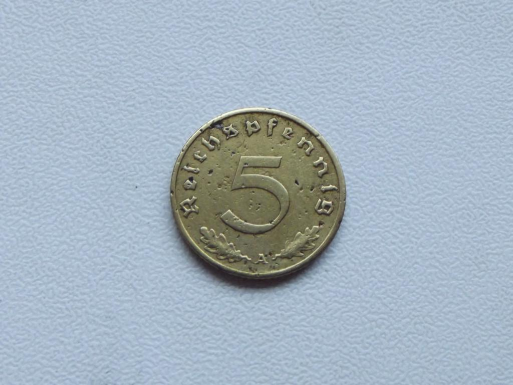 5 рейхспфеннигов (reichspfennig) 1939 года. A (Берлин)