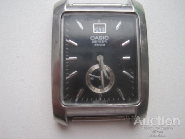 Часы наручные мужские CASIO BESIDE кварцевые на батарейке в рабочем состоянии,не родное стекло