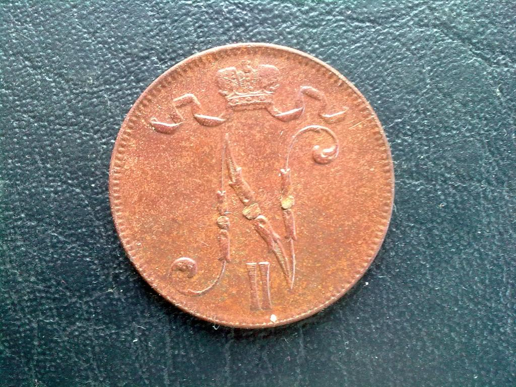 5 пенни 1917г. , вензель