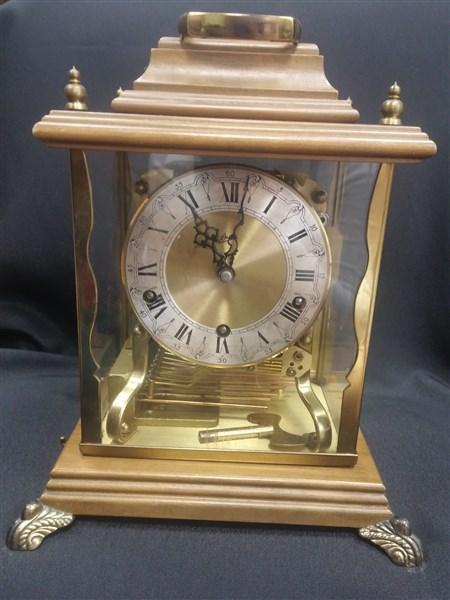 Винтажные настольные каретные каминные часы Schatz & Sohne. Germany. Вестминстерский бой