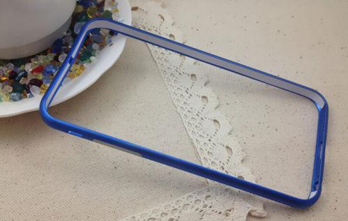 Для Apple iPhone 6/6S жесткий ударопрочный , бампер металлический синий алюминий