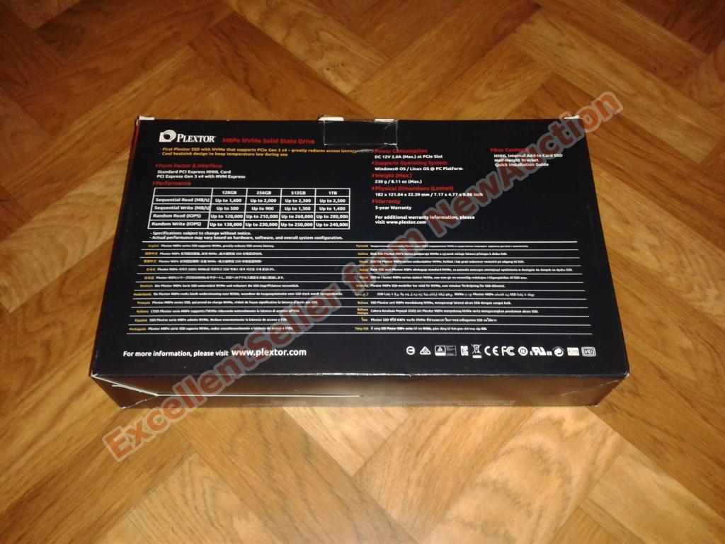 Производительный твердотельный накопитель 128GB SSD Plextor M8PeY PCIe, новый, с 1 руб.