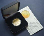 100 евро 2004 год. Всемирное наследие ЮНЕСКО. Бамберг. Германия. Золото 999,9, 15.55 грамм