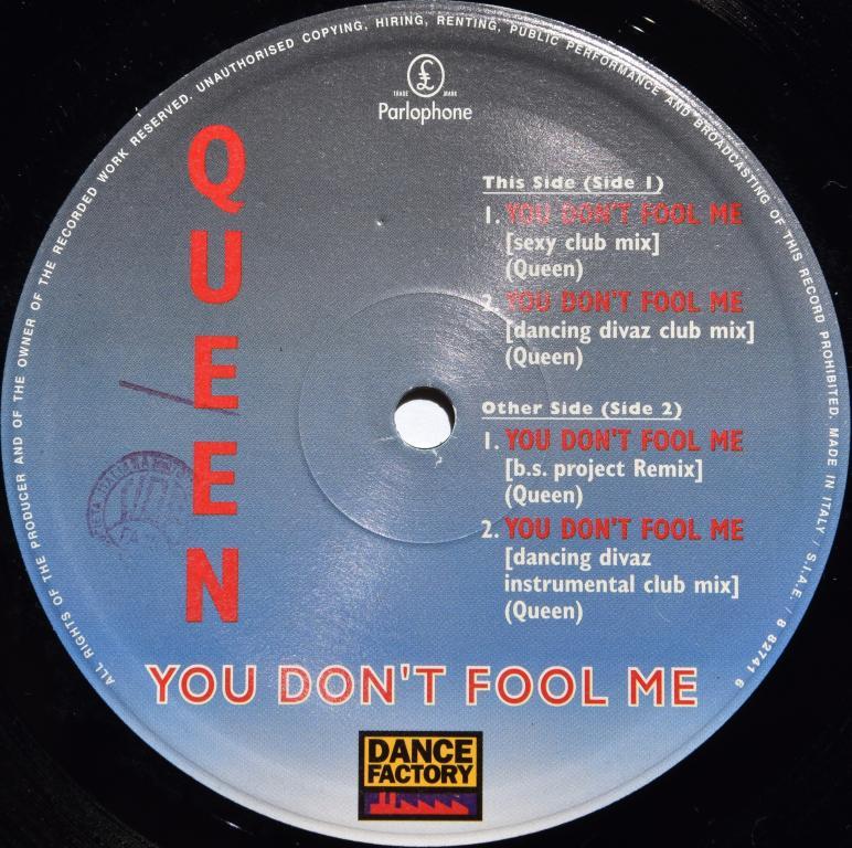 "Queen ""You Don't Fool Me"" 1996 Maxi Single"