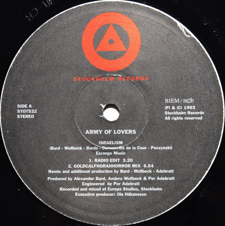 """Army Of Lovers """"Israelism"""" 1993 Maxi Single"""