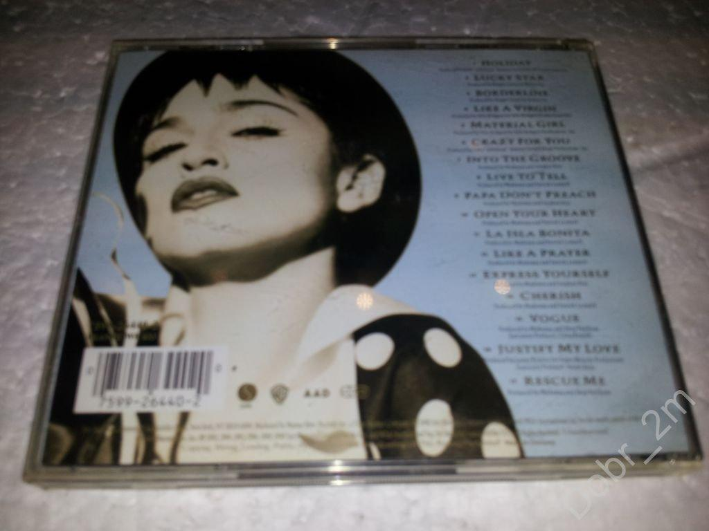 MADONNA The IMMACULATE Collection 1990 made in Germany ( 7599-26440-2)
