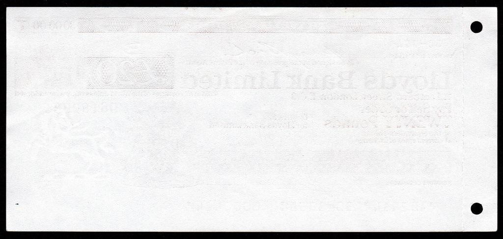 Англия Великобритания Дорожный чек 20 фунтов 1979 с Корешком а.UNC+