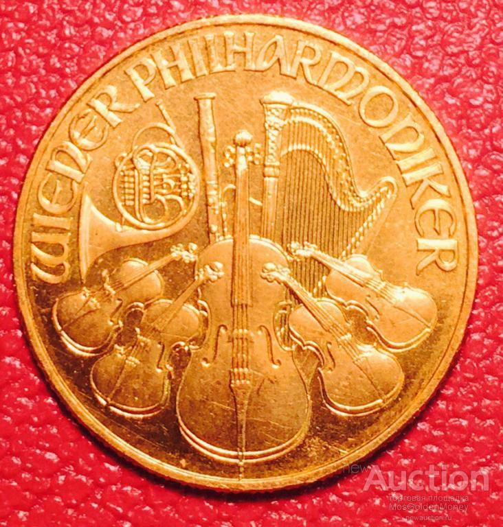 Золотая монета 500 шиллингов 1992г.